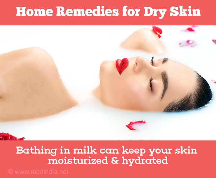 Home Remedies with Natural Ingredients for Dry Skin: Milk Bath