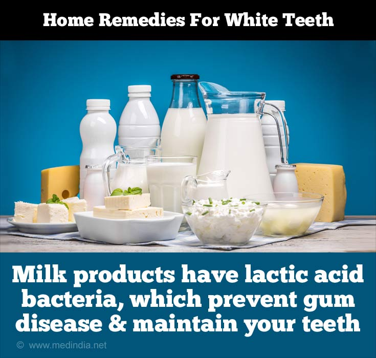 Tips to Maintain White Teeth: Milk Products