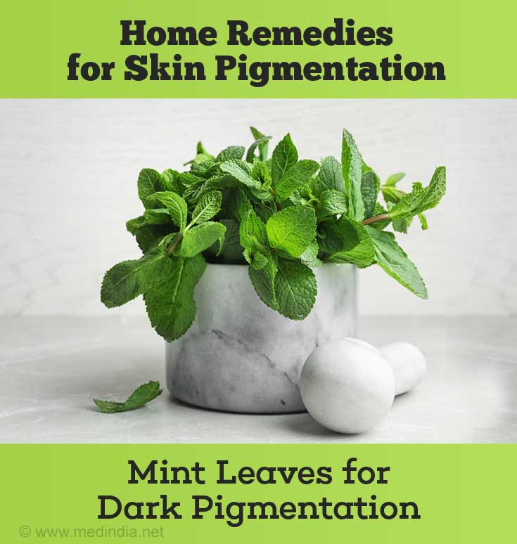 Mint Leaves for Dark Pigmentation