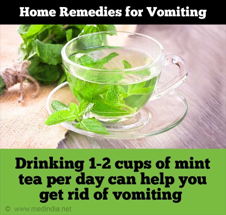 Home Remedies for Vomiting: Mint Tea
