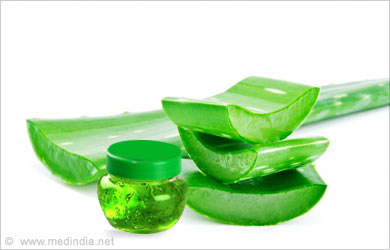 Home Remedies for Mumps: Aloe Vera Leaf Gel