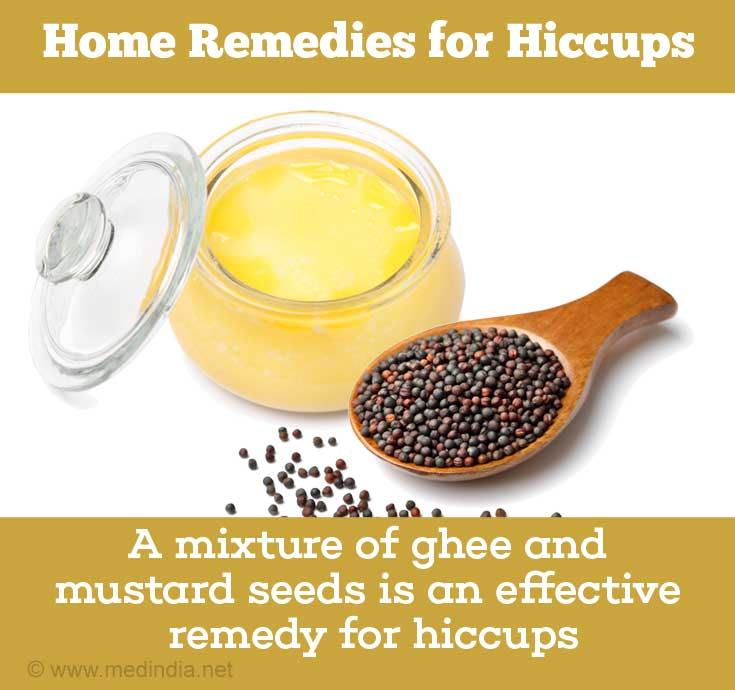 Home Remedies for Hiccups: Mustard and Ghee