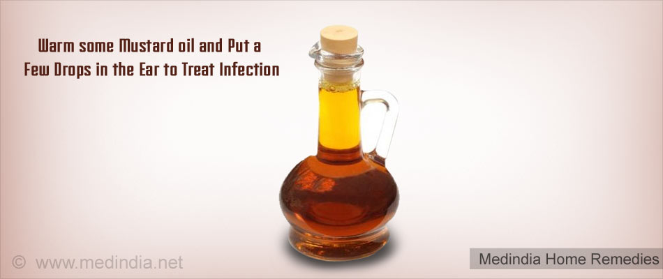 Home Remedies for Earache: Mustard Oil