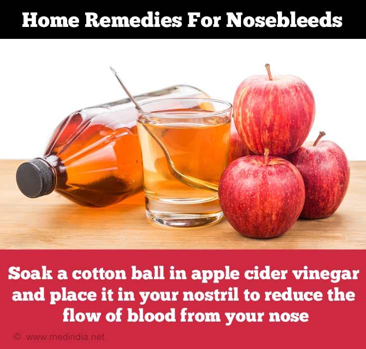 Home Remedies for Nose bleed: Apple Cider Vinegar
