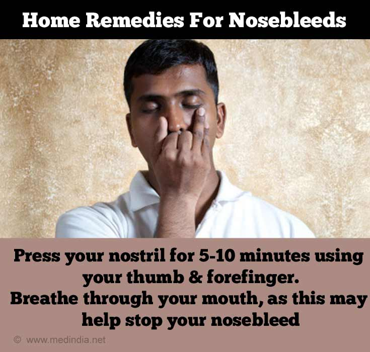 Home Remedies for Nose bleed: Nostril Breathe
