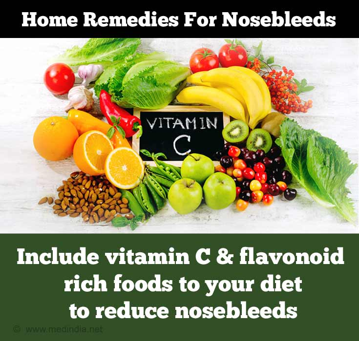 Home Remedies for Nose bleed: Vitamin C Rich Foods