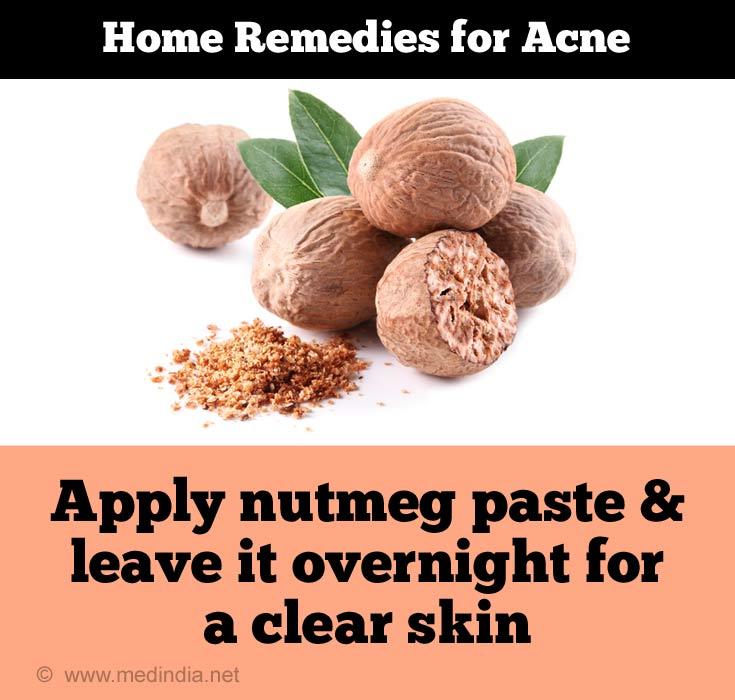 Nutmeg Makes Skin Clear
