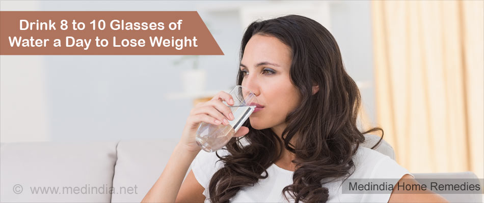 Home Remedies for Obesity: Drink Water