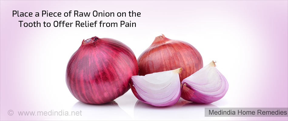 Home Remedies for Toothache: Onion