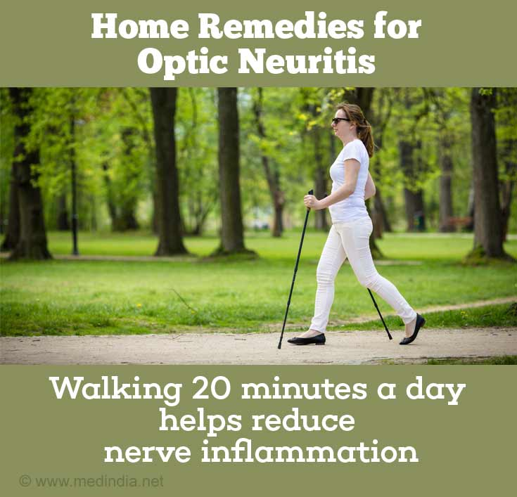 Walking 20 Minutes a day helps Reduce Nerve Inflammation