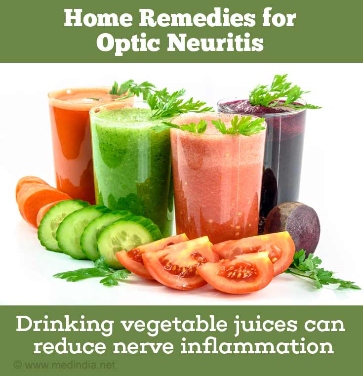 Home Remedies for Optic Neuritis: Vegetable Juice
