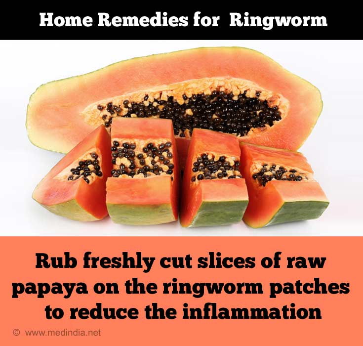 Raw Papaya Slices: Effective Remedy for Ringworm Infection