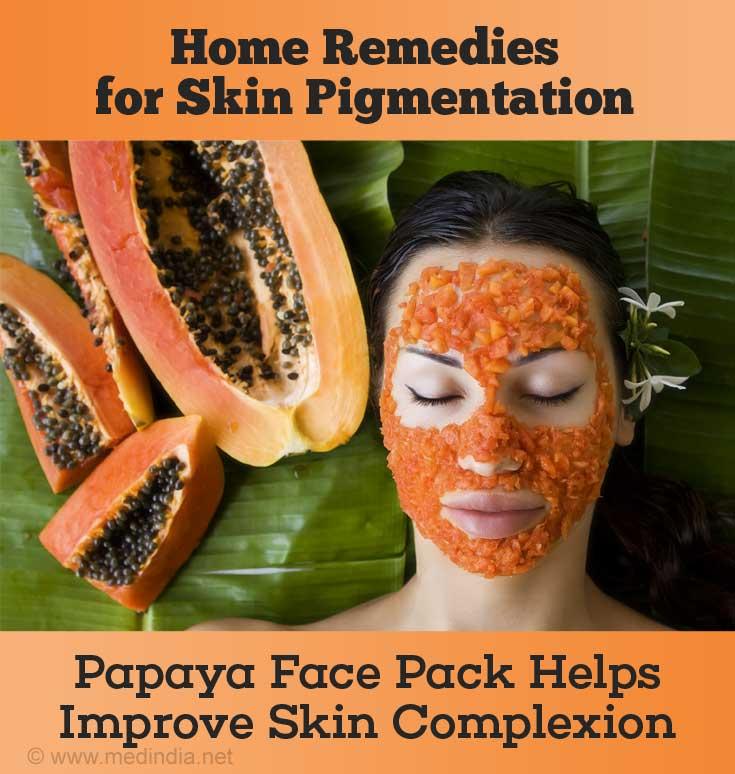 Papaya Face Pack to Remove Sun Tan