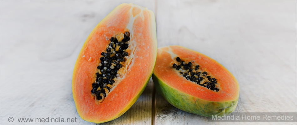 Home Remedies for Pyorrhea: Papaya