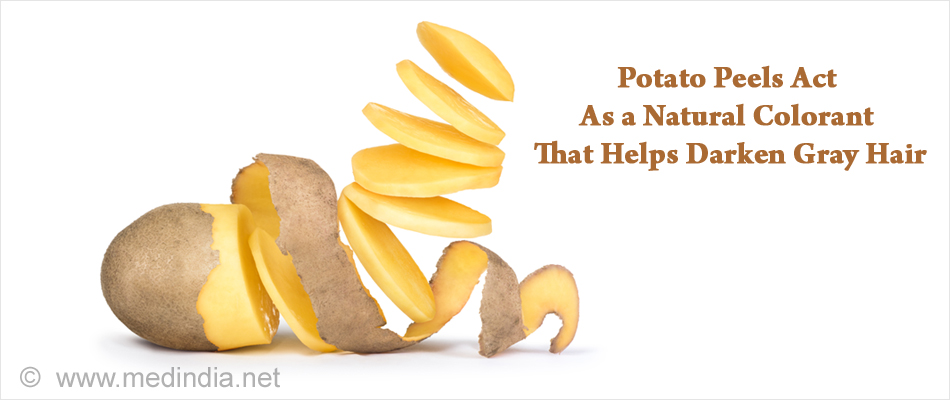 Potato Peels Acts As a Natural Colorant That Helps Darken Gray Hair