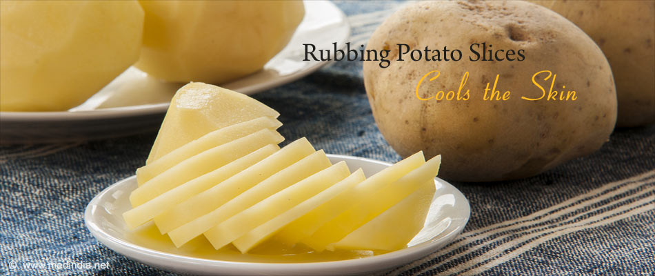 Potato Slices Ease Prickly Sensation