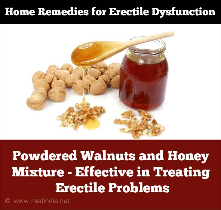 Powdered Walnuts and Honey Mixture Effective in Treating Erectile Problems