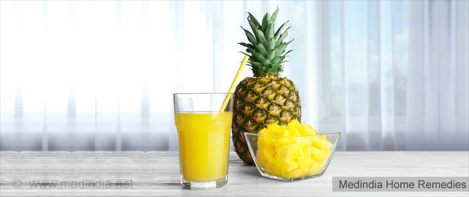 Home Remedies for Osteoporosis: Pineapple Juice