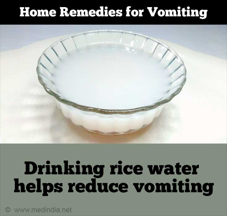 Home Remedies for Vomiting: Rice Water