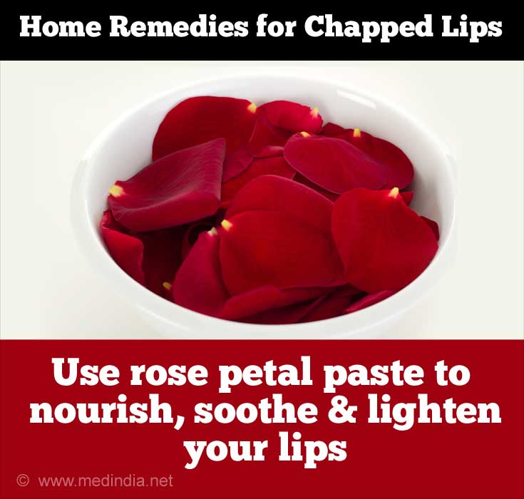 Rose Petals for Chapped Lips