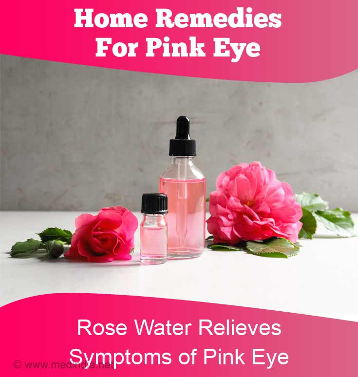 Rose Water Relieves Symptoms of Pink Eye