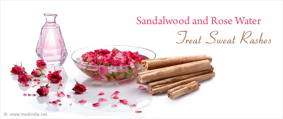 Sandal Wood Powder and Rose Water Pack for Heat Rash