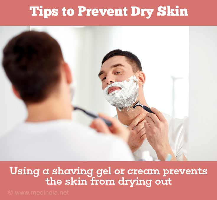 Prevention of Dry Skin: Shaving with a Razor