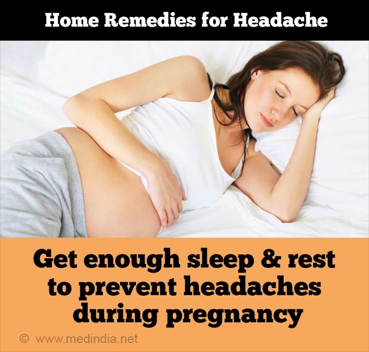 Home Remedies for Headache: Enough Sleep During Pregnancy