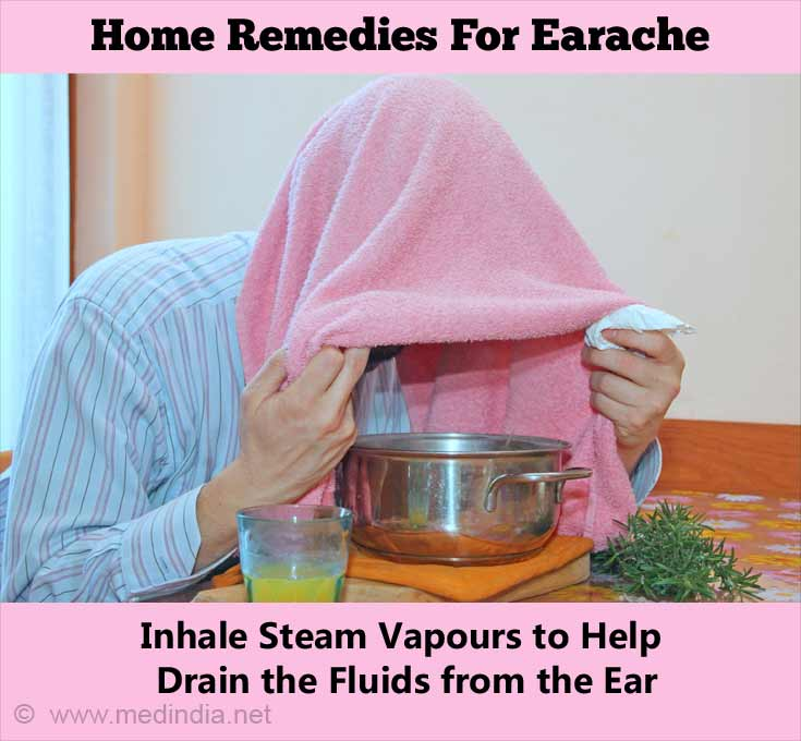 Home Remedies for Earache: Steam