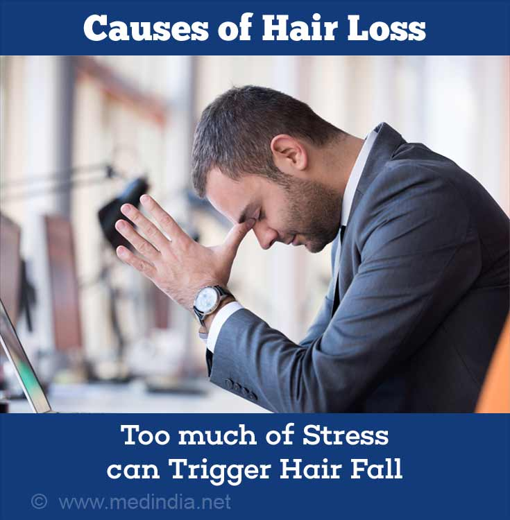 Causes of Hair Loss: Stress