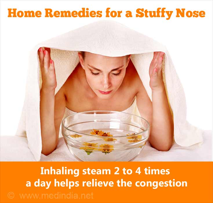 Stuffy Nose: Steam Inhalation