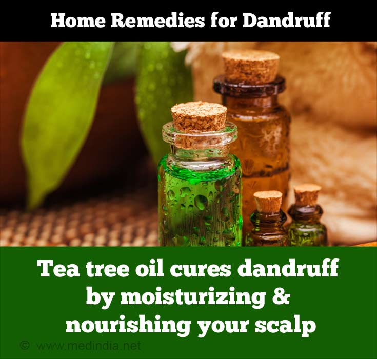 Home Remedies for Dandruff: Tea Tree Oil