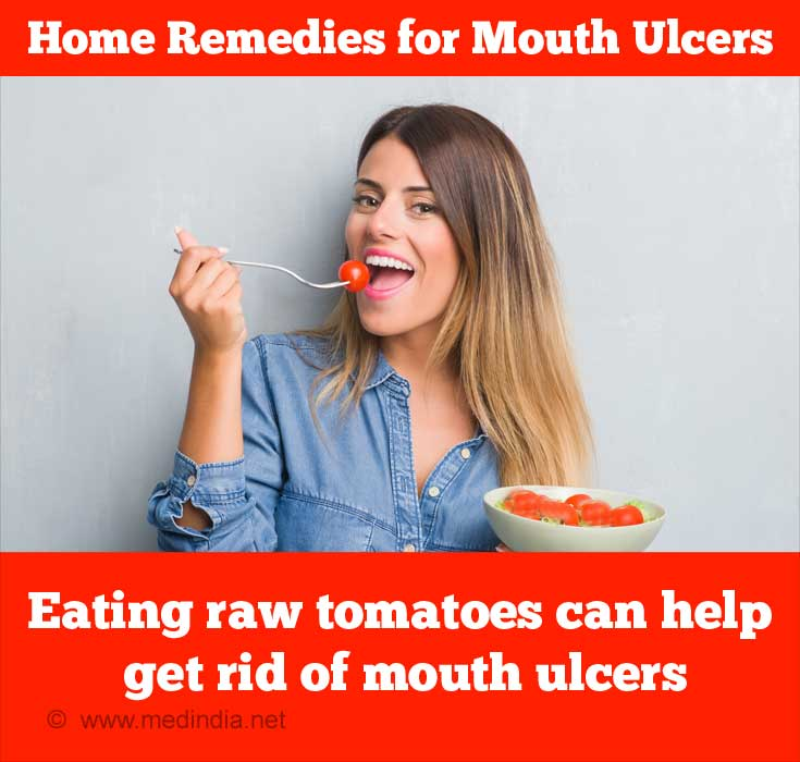 Tomatoes Help Get Rid of Mouth Ulcers