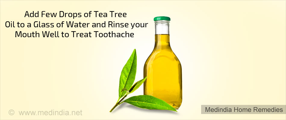 Home Remedies for Toothache: Tea Tree Oil