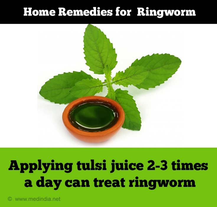 Tulsi / Holy Basil Leaves to Cure Ringworm