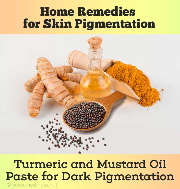 Turmeric and Mustard Oil Paste Lighten White Patches
