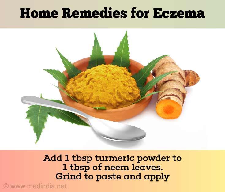 Turmeric Powder Neem Leaves Treats Eczema