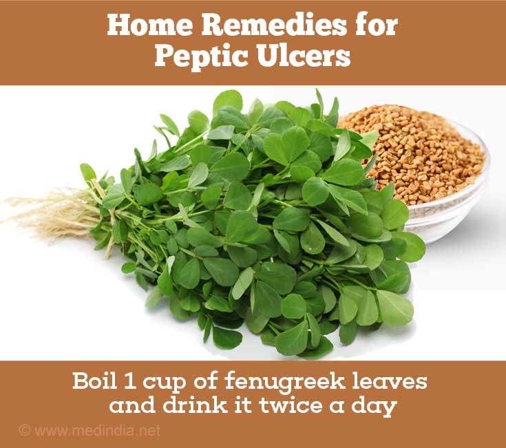 Home Remedies for Peptic Ulcers: Fenugreek Leaves