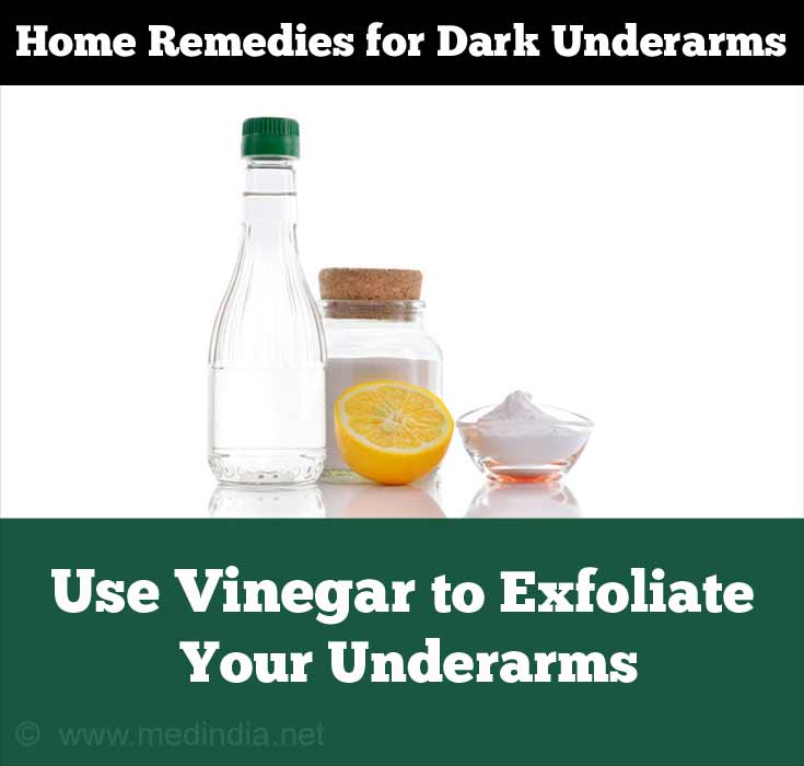 Vinegar Helps Vanish Dark Underarms