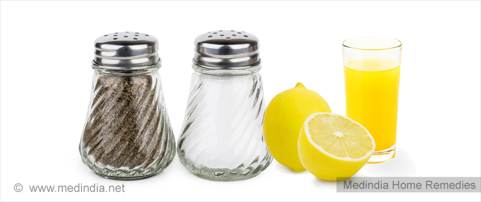 Home Remedies for Vertigo: Salt, Black Pepper & Lemon Juice