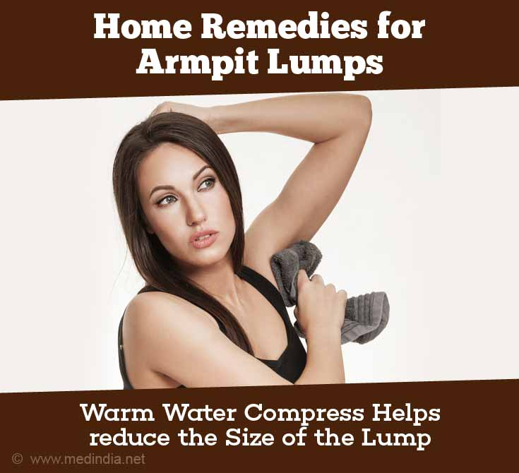 Warm Water Compress Helps reduce the Size of the Lump