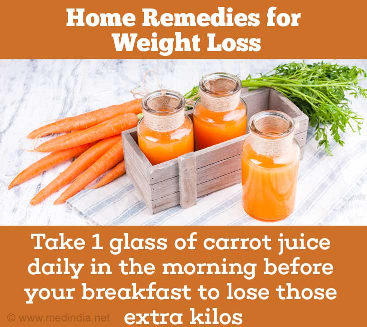 Home Remedies For Weight Loss: Carrot Juice