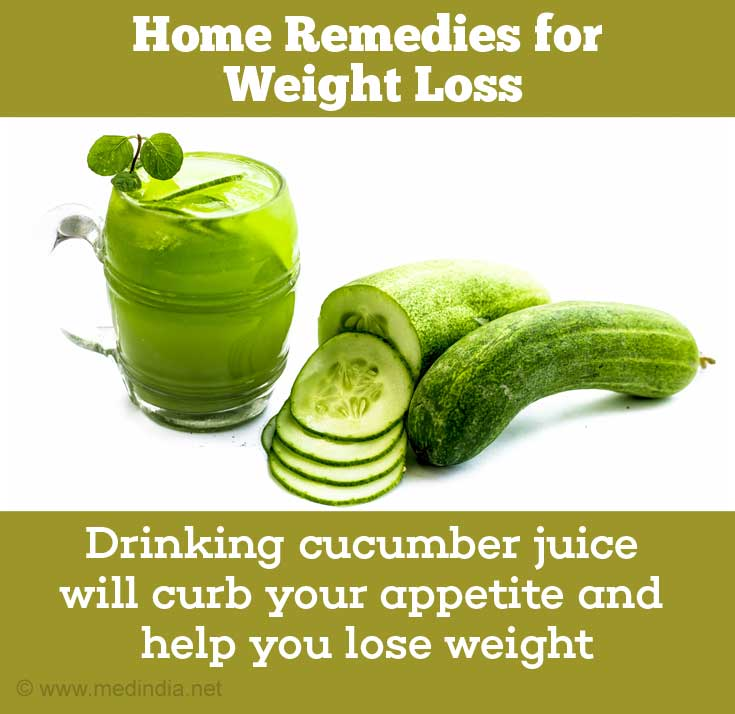 Home Remedies For Weight Loss: Cucumber