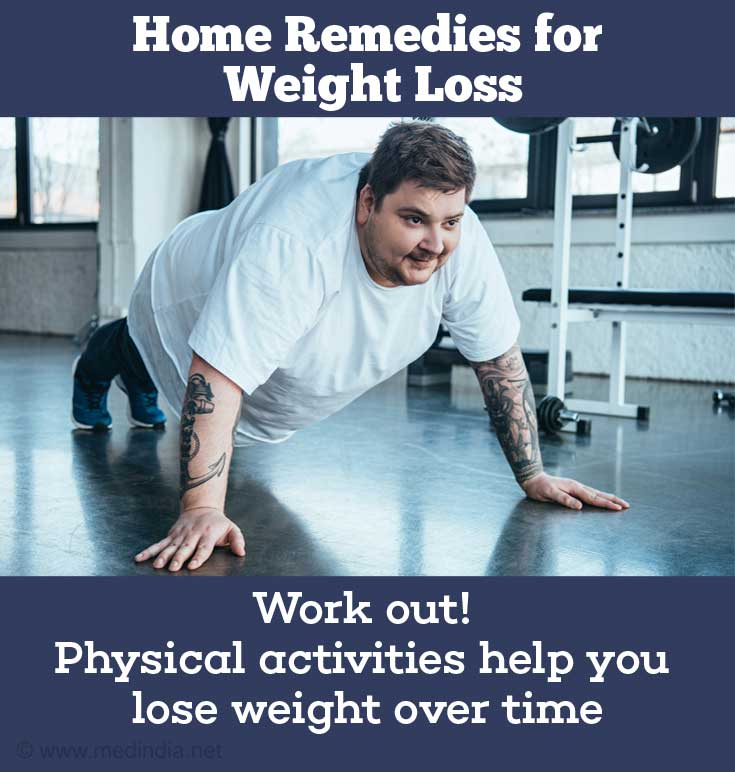 Home Remedies For Weight Loss: Exercising