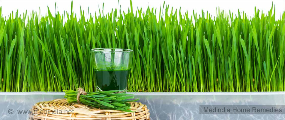 Wheat Grass Juice for Body Odor
