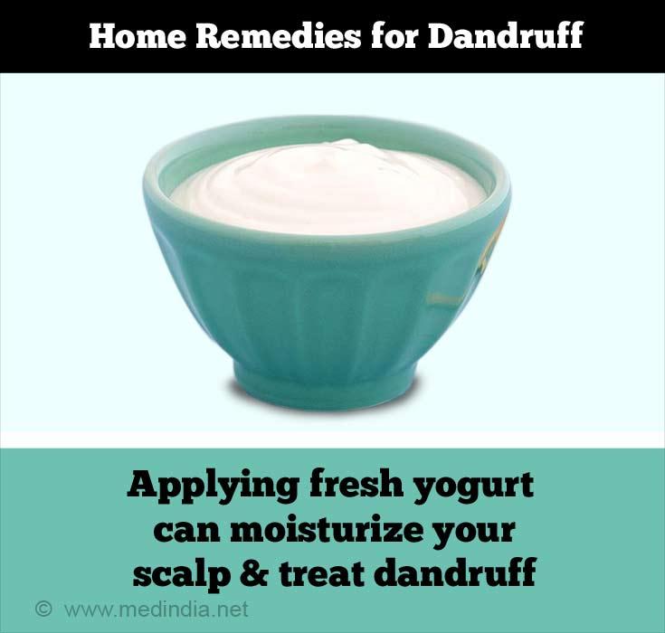 Home Remedies for Dandruff: Yogurt