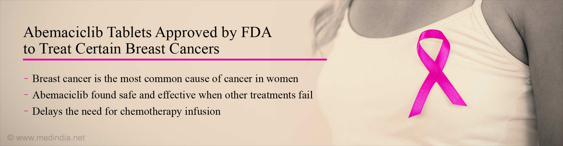 FDA Approves Abemaciclib to Treat Women With Certain Breast Cancers