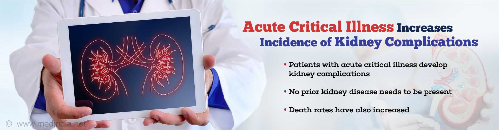Acute Critical Illness Increases the Risk of Kidney Complications