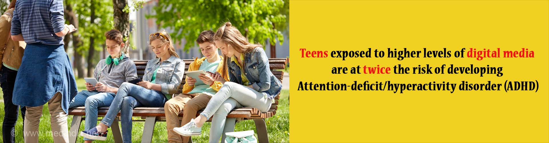 Heavy Use of Digital Media May Up Risk of ADHD in Teenagers