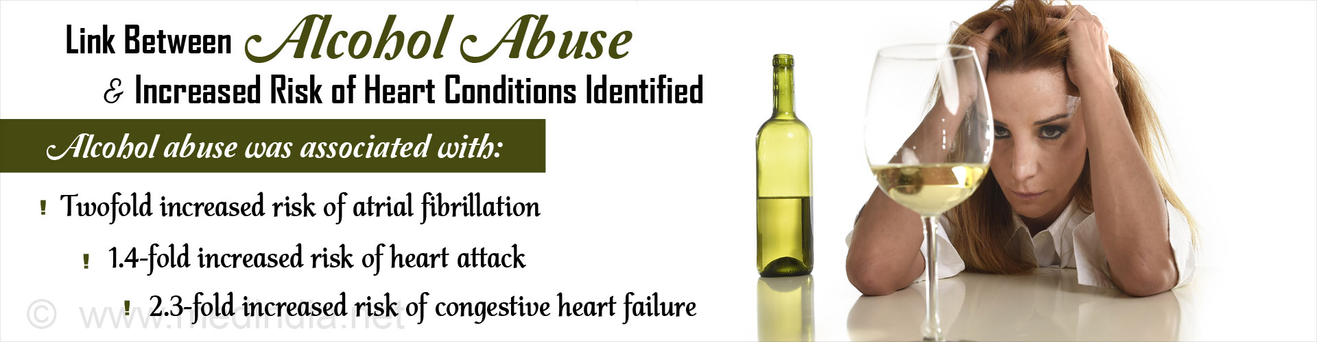 Alcohol Abuse Increases the Risk of Heart Diseases